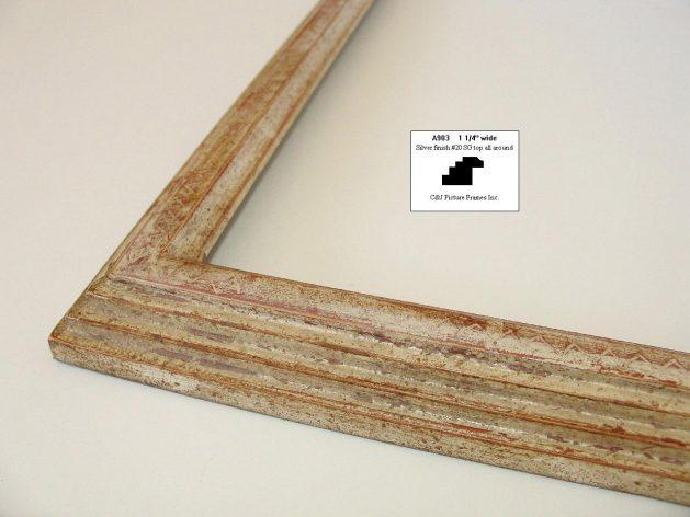 AMCI-Regence: CJFrames - Contemporary Frames - Gold Leaf - Black over Metal - Antique White - Ebony: A903
