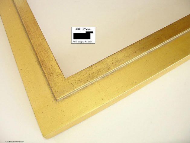 AMCI-Regence: CJFrames - Contemporary Frames - Gold Leaf - Black over Metal - Antique White - Ebony: A920