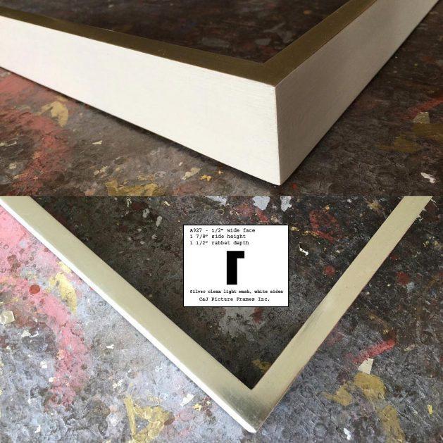 AMCI-Regence: CJFrames - Contemporary Frames - Gold Leaf - Black over Metal - Antique White - Ebony: A927
