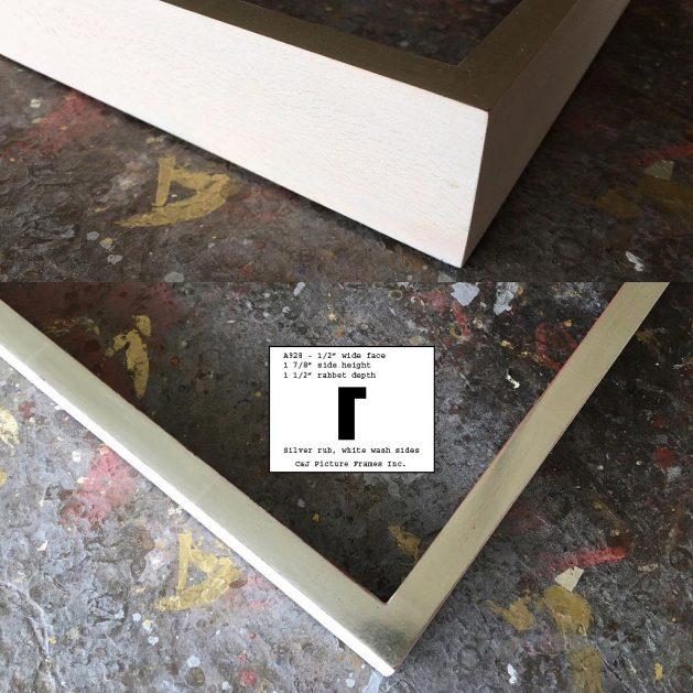 AMCI-Regence: CJFrames - Contemporary Frames - Gold Leaf - Black over Metal - Antique White - Ebony: A928