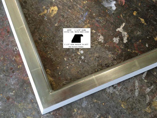 AMCI-Regence: CJFrames - Contemporary Frames - Gold Leaf - Black over Metal - Antique White - Ebony: A930