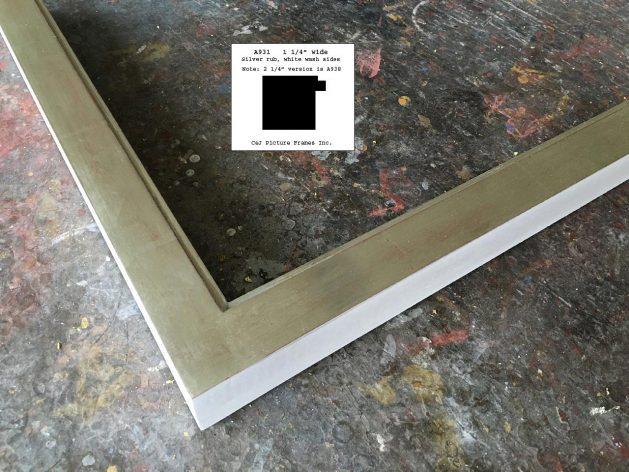 AMCI-Regence: CJFrames - Contemporary Frames - Gold Leaf - Black over Metal - Antique White - Ebony: A931
