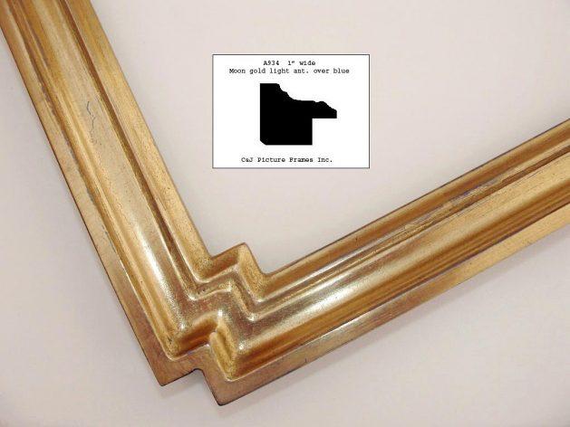 AMCI-Regence: CJFrames - Contemporary Frames - Gold Leaf - Black over Metal - Antique White - Ebony: A934