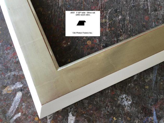 AMCI-Regence: CJFrames - Contemporary Frames - Gold Leaf - Black over Metal - Antique White - Ebony: A937