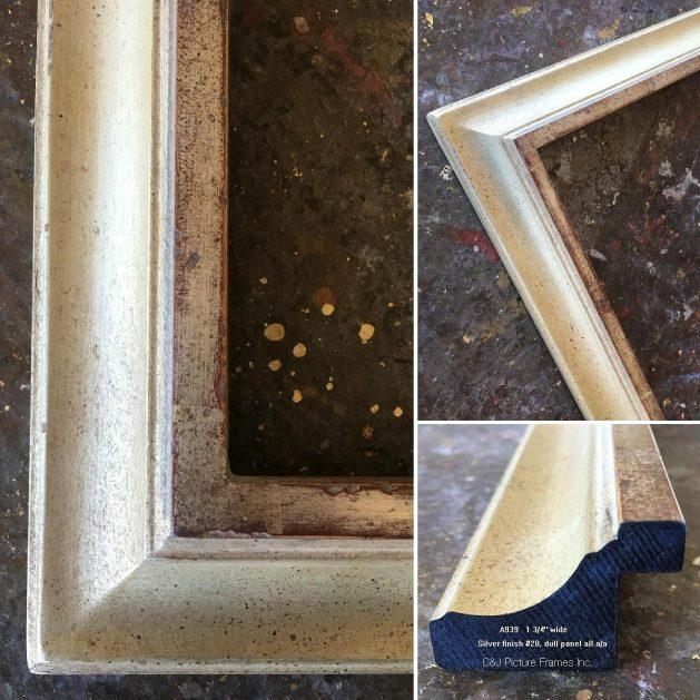 AMCI-Regence: CJFrames - Contemporary Frames - Gold Leaf - Black over Metal - Antique White - Ebony: A939