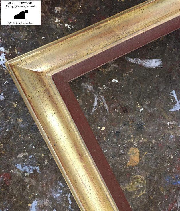 AMCI-Regence: CJFrames - Contemporary Frames - Gold Leaf - Black over Metal - Antique White - Ebony: A951