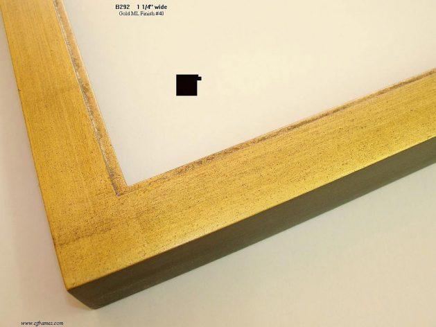 AMCI-Regence: CJFrames - Contemporary Frames - Gold Leaf - Black over Metal - Antique White - Ebony: B292