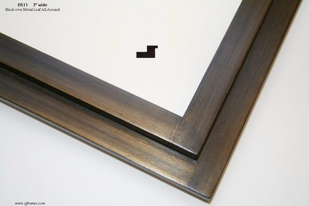 AMCI-Regence: CJFrames - Contemporary Frames - Gold Leaf - Black over Metal - Antique White - Ebony: B511