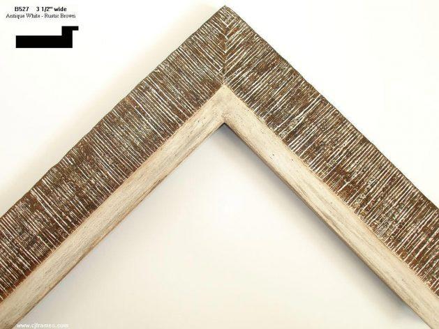AMCI-Regence: CJFrames - Contemporary Frames - Gold Leaf - Black over Metal - Antique White - Ebony: B527