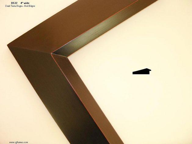 AMCI-Regence: CJFrames - Contemporary Frames - Gold Leaf - Black over Metal - Antique White - Ebony: B532