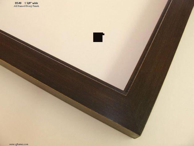 AMCI-Regence: CJFrames - Contemporary Frames - Gold Leaf - Black over Metal - Antique White - Ebony: B540