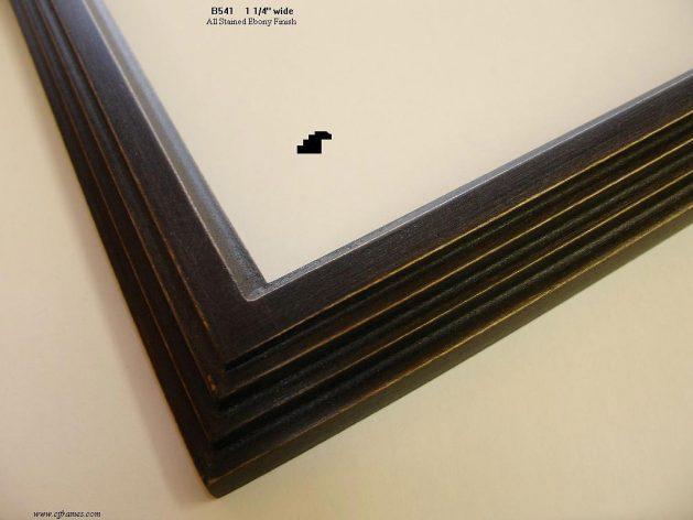AMCI-Regence: CJFrames - Contemporary Frames - Gold Leaf - Black over Metal - Antique White - Ebony: B541