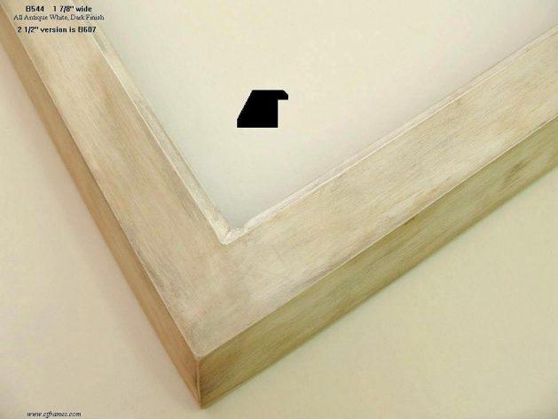 AMCI-Regence: CJFrames - Contemporary Frames - Gold Leaf - Black over Metal - Antique White - Ebony: B544