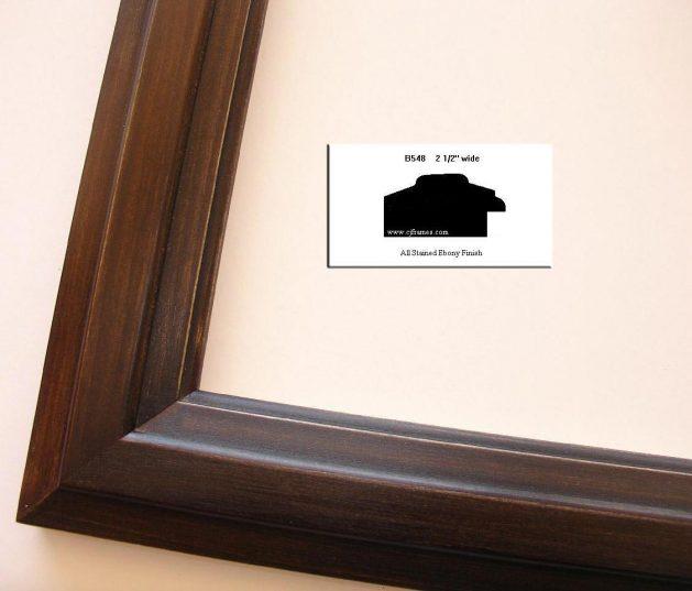 AMCI-Regence: CJFrames - Contemporary Frames - Gold Leaf - Black over Metal - Antique White - Ebony: B548