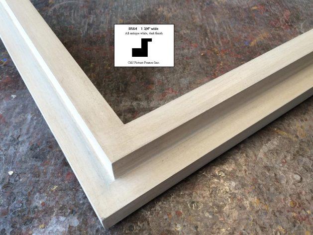 AMCI-Regence: CJFrames - Contemporary Frames - Gold Leaf - Black over Metal - Antique White - Ebony: B564