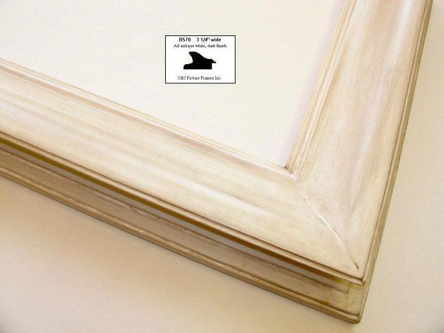 AMCI-Regence: CJFrames - Contemporary Frames - Gold Leaf - Black over Metal - Antique White - Ebony: B570