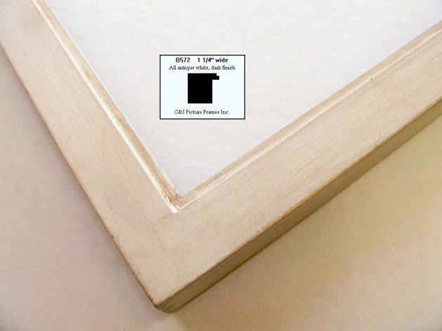 AMCI-Regence: CJFrames - Contemporary Frames - Gold Leaf - Black over Metal - Antique White - Ebony: B572