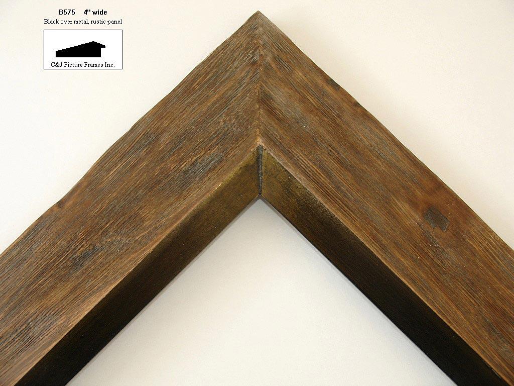 AMCI-Regence: CJFrames - Contemporary Frames - Gold Leaf - Black Over Metal - Antique White - Ebony: B575
