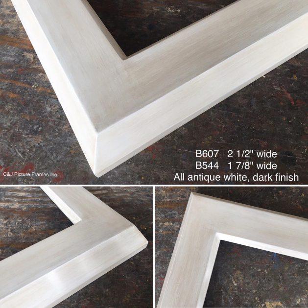 AMCI-Regence: CJFrames - Contemporary Frames - Gold Leaf - Black over Metal - Antique White - Ebony: B607