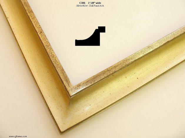 AMCI-Regence: CJFrames - Contemporary Frames - Gold Leaf - Black over Metal - Antique White - Ebony: c386