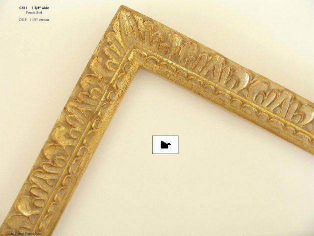 AMCI-Regence: CJFrames - French Frames - Gold Leaf - Black over Metal - Antique White - Ebony: C411