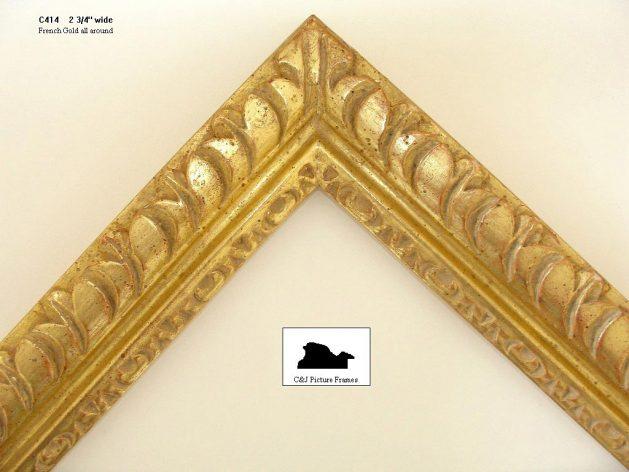 AMCI-Regence: CJFrames - French Frames - Gold Leaf - Black over Metal - Antique White - Ebony: C414