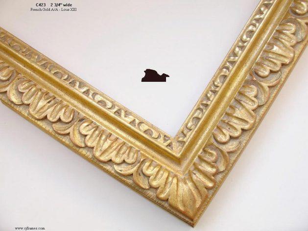 AMCI-Regence: CJFrames - French Frames - Gold Leaf - Black over Metal - Antique White - Ebony: C423