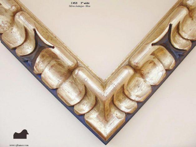 AMCI-Regence: CJFrames - Spanish Frames - Gold Leaf - Black over Metal - Antique White - Ebony: C459