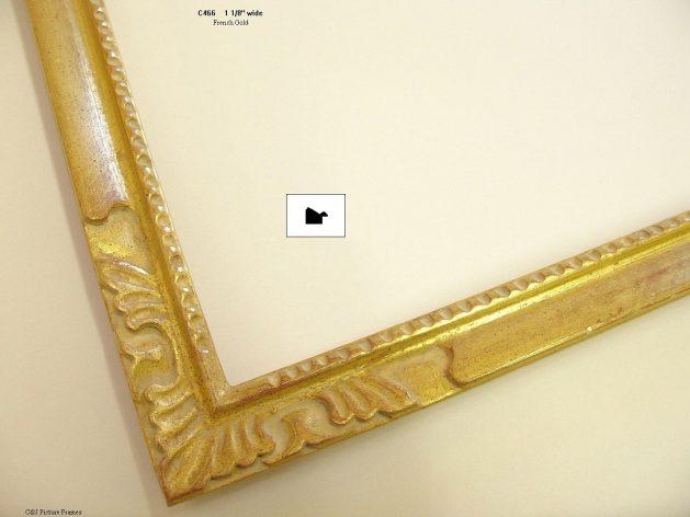 AMCI-Regence: CJFrames - French Frames - Gold Leaf - Black over Metal - Antique White - Ebony: C466