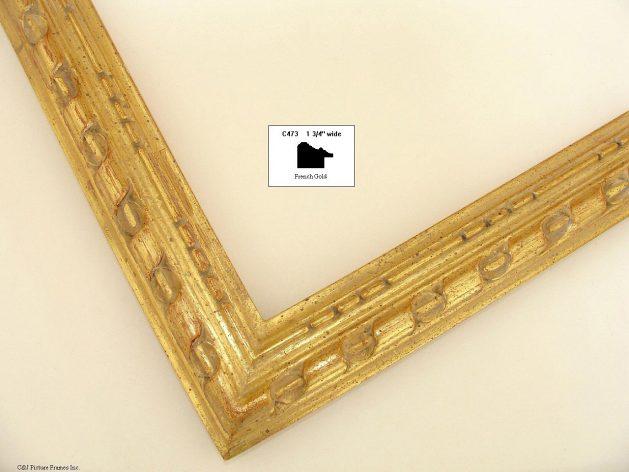 AMCI-Regence: CJFrames - French Frames - Gold Leaf - Black over Metal - Antique White - Ebony: C473