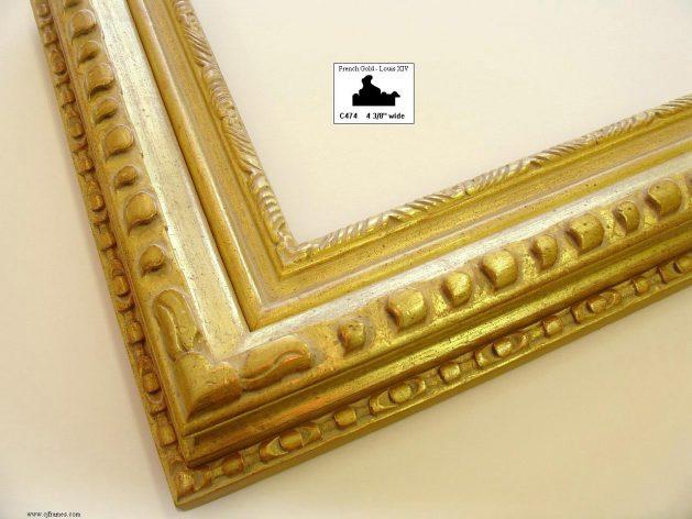 AMCI-Regence: CJFrames - French Frames - Gold Leaf - Black over Metal - Antique White - Ebony: C474