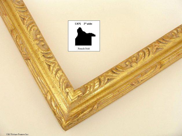 AMCI-Regence: CJFrames - French Frames - Gold Leaf - Black over Metal - Antique White - Ebony: C475