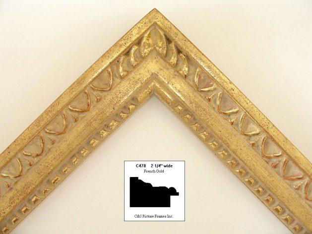 AMCI-Regence: CJFrames - French Frames - Gold Leaf - Black over Metal - Antique White - Ebony: C478