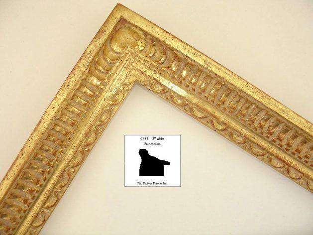 AMCI-Regence: CJFrames - French Frames - Gold Leaf - Black over Metal - Antique White - Ebony: C479