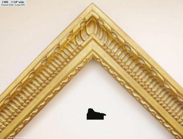 AMCI-Regence: CJFrames - French Frames - Gold Leaf - Black over Metal - Antique White - Ebony: C480