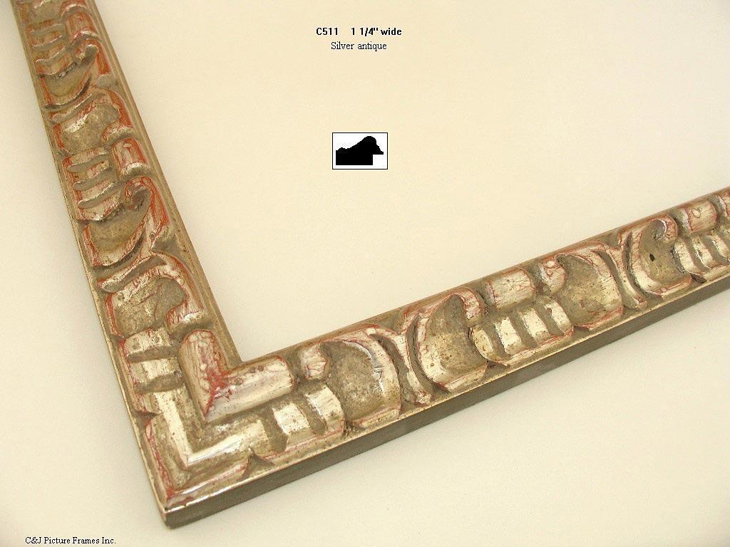 AMCI-Regence: CJFrames - Spanish Frames - Gold Leaf - Black Over Metal - Antique White - Ebony: C511