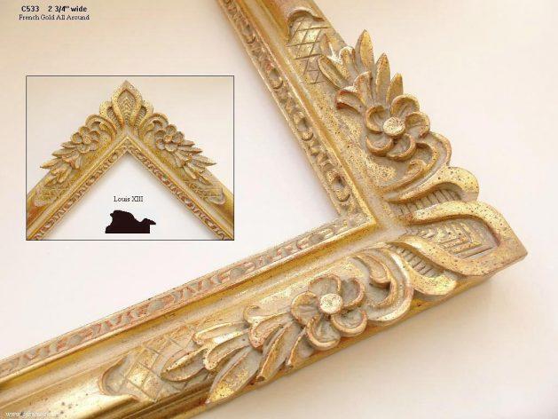 AMCI-Regence: CJFrames - French Frames - Gold Leaf - Black over Metal - Antique White - Ebony: C533