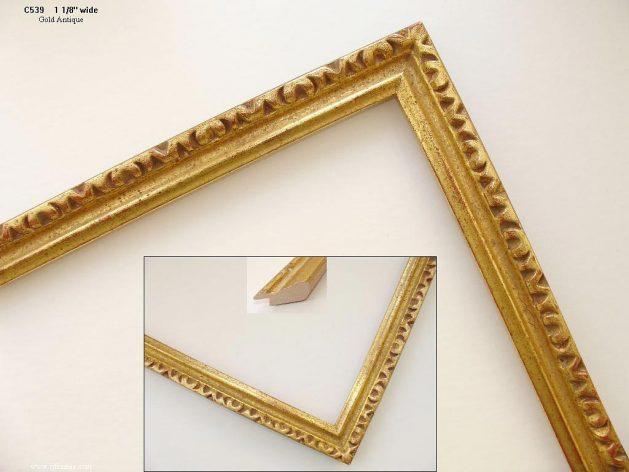 AMCI-Regence: CJFrames - French Frames - Gold Leaf - Black over Metal - Antique White - Ebony: C539