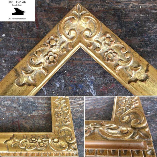 AMCI-Regence: CJFrames - French Frames - Gold Leaf - Black over Metal - Antique White - Ebony: C541
