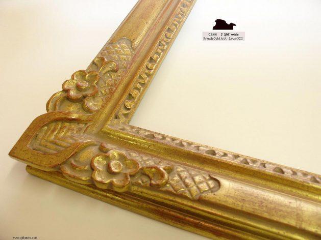 AMCI-Regence: CJFrames - French Frames - Gold Leaf - Black over Metal - Antique White - Ebony: C544