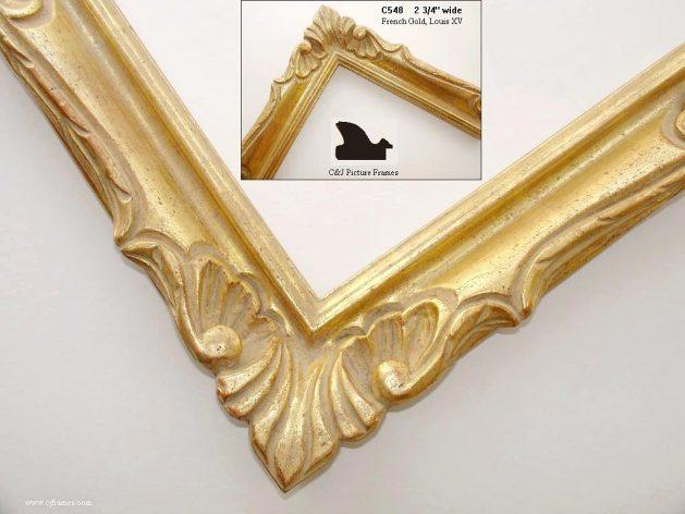AMCI-Regence: CJFrames - French Frames - Gold Leaf - Black over Metal - Antique White - Ebony: C548