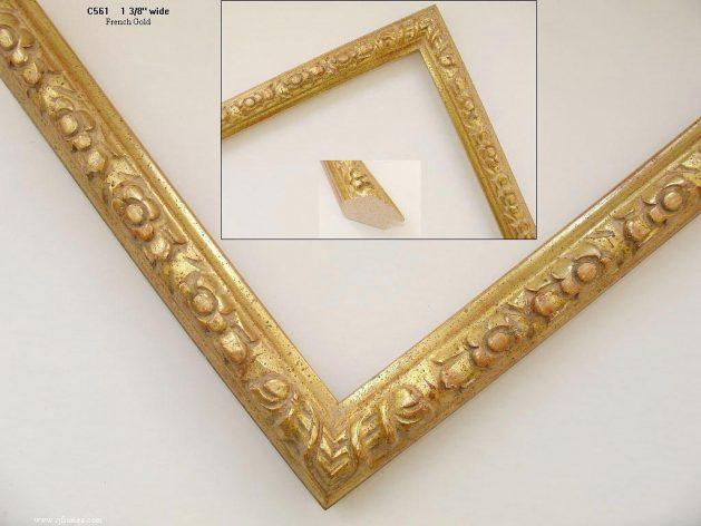 AMCI-Regence: CJFrames - French Frames - Gold Leaf - Black over Metal - Antique White - Ebony: C561
