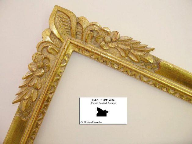AMCI-Regence: CJFrames - French Frames - Gold Leaf - Black over Metal - Antique White - Ebony: C562