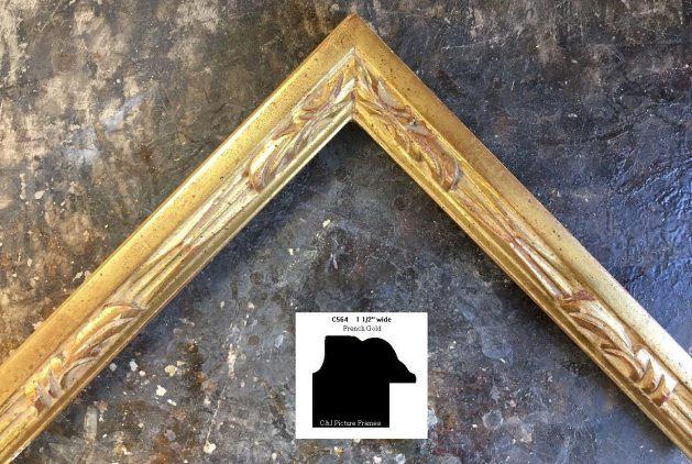 AMCI-Regence: CJFrames - French Frames - Gold Leaf - Black over Metal - Antique White - Ebony: C564
