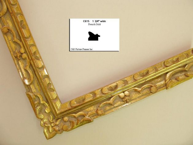 AMCI-Regence: CJFrames - French Frames - Gold Leaf - Black over Metal - Antique White - Ebony: C615