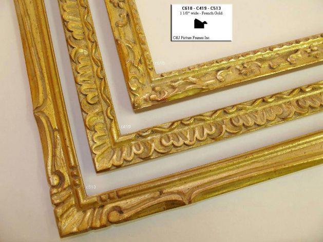 AMCI-Regence: CJFrames - French Frames - Gold Leaf - Black over Metal - Antique White - Ebony: C618 - C419 - C513