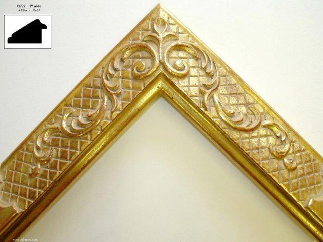 AMCI-Regence: CJFrames - French Frames - Gold Leaf - Black over Metal - Antique White - Ebony: C659