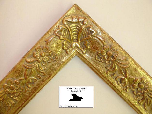 AMCI-Regence: CJFrames - French Frames - Gold Leaf - Black over Metal - Antique White - Ebony: C665