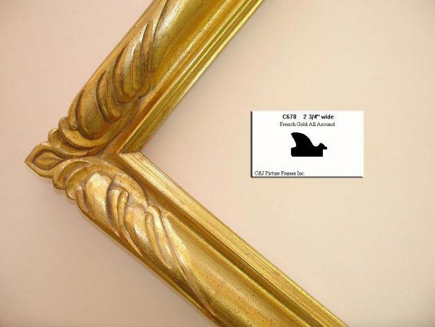 AMCI-Regence: CJFrames - French Frames - Gold Leaf - Black over Metal - Antique White - Ebony: C678