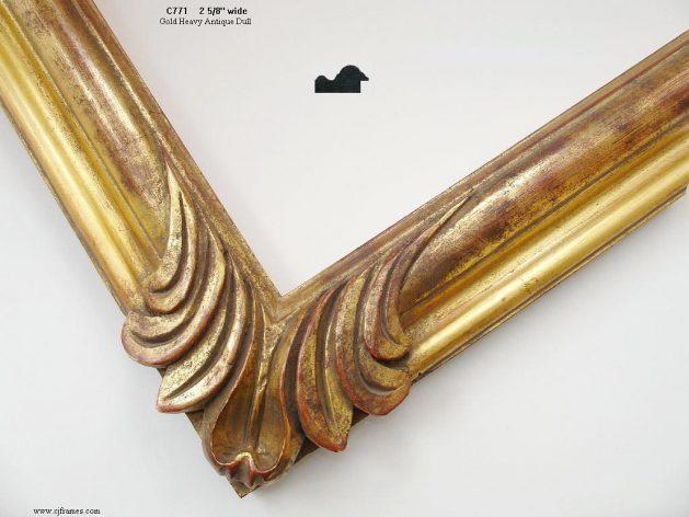AMCI-Regence: CJFrames - Spanish Frames - Gold Leaf - Black over Metal - Antique White - Ebony: C771